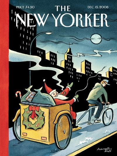 The New Yorker Cover - December 15, 2008-Marcellus Hall-Premium Giclee Print