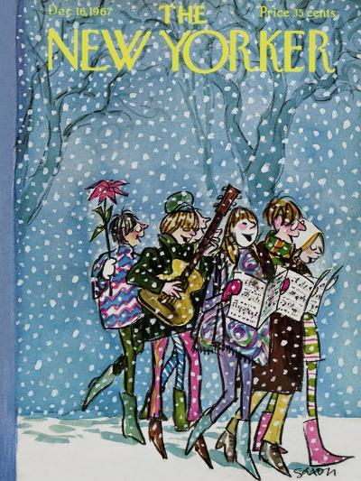 The New Yorker Cover - December 16, 1967-Charles Saxon-Premium Giclee Print
