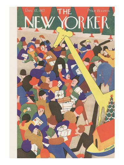 The New Yorker Cover - December 17, 1927-Theodore G. Haupt-Premium Giclee Print