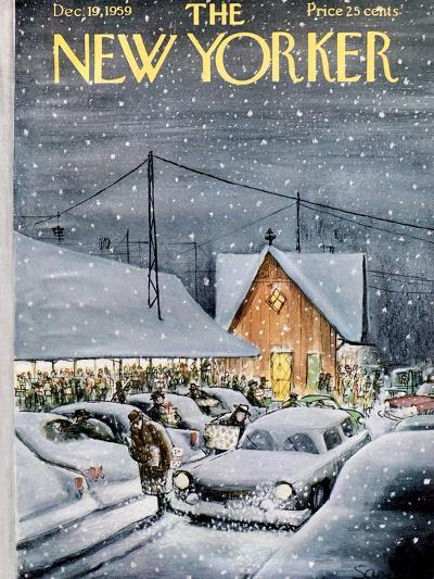 The New Yorker Cover - December 19, 1959-Charles Saxon-Premium Giclee Print