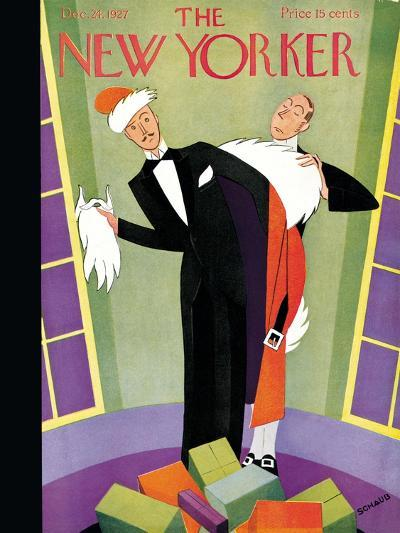 The New Yorker Cover - December 24, 1927-Andre De Schaub-Premium Giclee Print