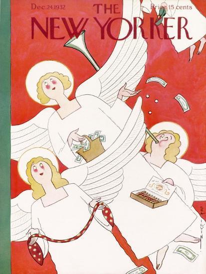 The New Yorker Cover - December 24, 1932-Rea Irvin-Premium Giclee Print