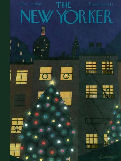 The New Yorker Cover - December 24, 1938-Adolph K. Kronengold-Premium Giclee Print