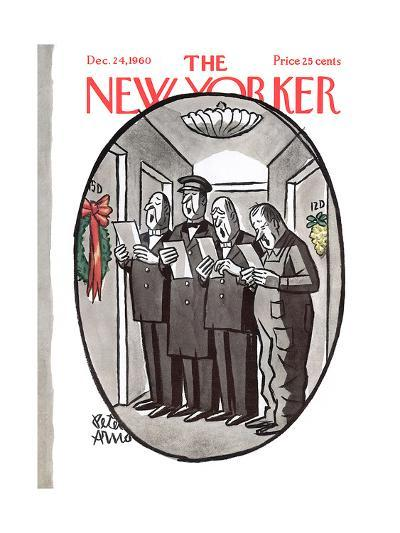 The New Yorker Cover - December 24, 1960-Peter Arno-Premium Giclee Print