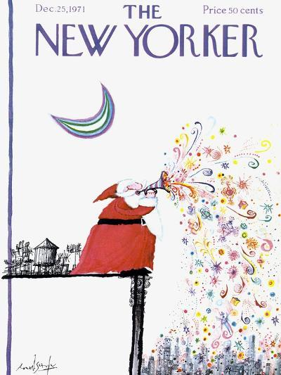 The New Yorker Cover - December 25, 1971-Ronald Searle-Premium Giclee Print