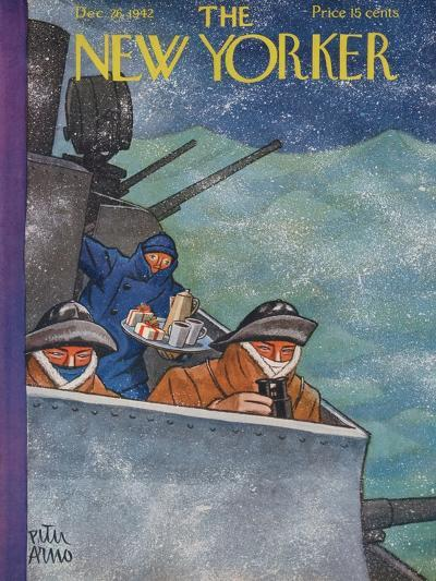 The New Yorker Cover - December 26, 1942-Peter Arno-Premium Giclee Print