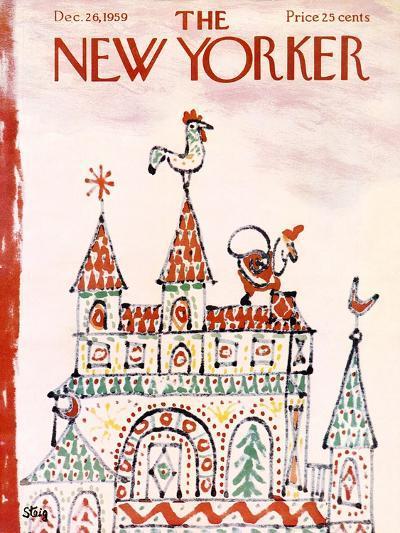 The New Yorker Cover - December 26, 1959-William Steig-Premium Giclee Print