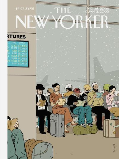 The New Yorker Cover - December 26, 2005-Adrian Tomine-Premium Giclee Print