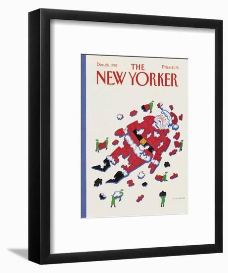 The New Yorker Cover - December 28, 1987-Lonni Sue Johnson-Framed Premium Giclee Print