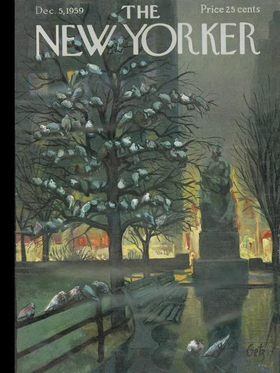 The New Yorker Cover - December 5, 1959-Arthur Getz-Premium Giclee Print