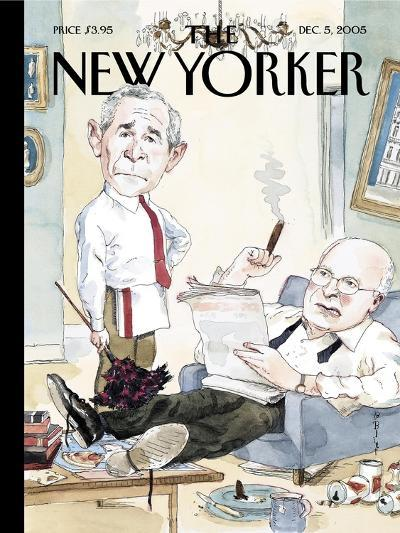 The New Yorker Cover - December 5, 2005-Barry Blitt-Premium Giclee Print
