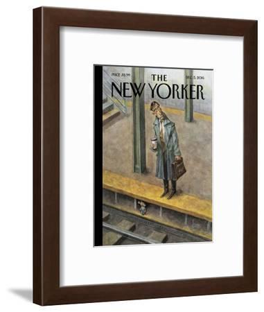 The New Yorker Cover - December 5, 2016-Peter de Sève-Framed Premium Giclee Print