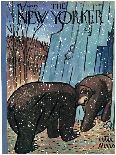 The New Yorker Cover - December 6, 1947-Peter Arno-Premium Giclee Print