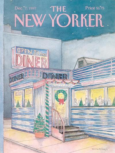 The New Yorker Cover - December 7, 1987-Iris VanRynbach-Premium Giclee Print