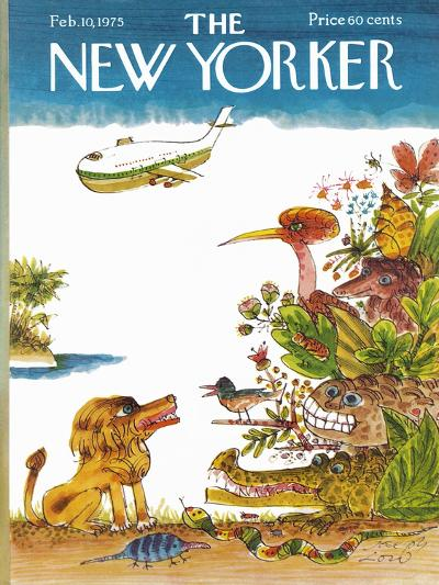The New Yorker Cover - February 10, 1975-Joseph Low-Premium Giclee Print