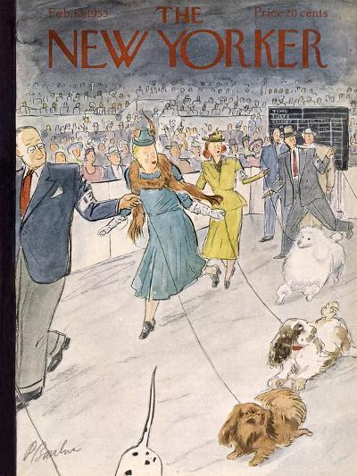 The New Yorker Cover - February 12, 1955-Perry Barlow-Premium Giclee Print