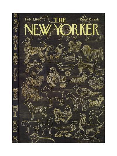 The New Yorker Cover - February 12, 1966-Anatol Kovarsky-Premium Giclee Print