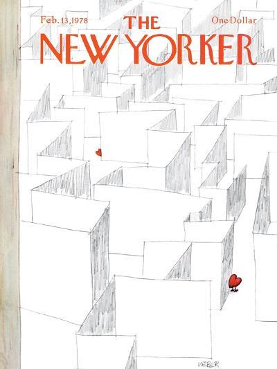 The New Yorker Cover - February 13, 1978-Robert Weber-Premium Giclee Print