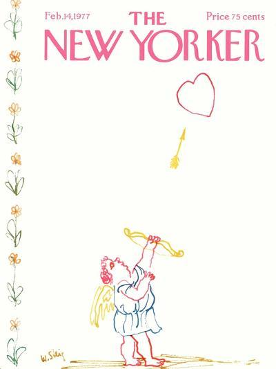 The New Yorker Cover - February 14, 1977-William Steig-Premium Giclee Print