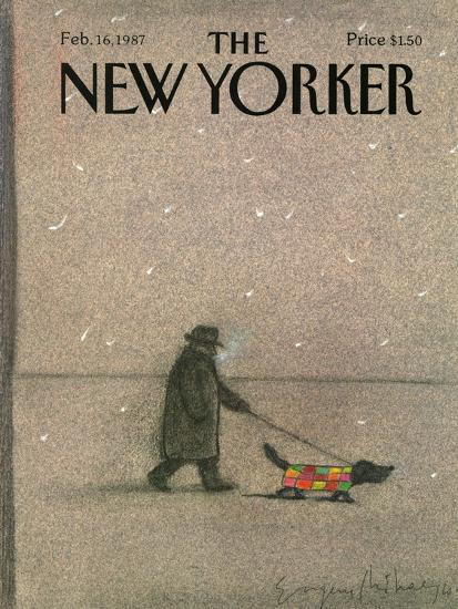 The New Yorker Cover - February 16, 1987-Eug?ne Mihaesco-Premium Giclee Print