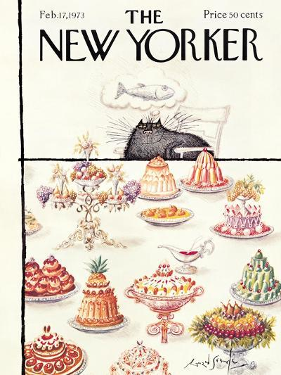 The New Yorker Cover - February 17, 1973-Ronald Searle-Premium Giclee Print