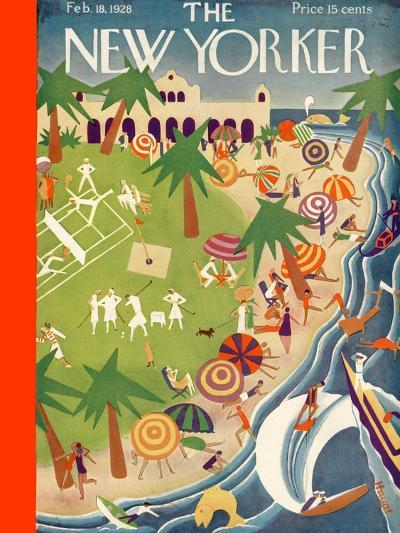 The New Yorker Cover - February 18, 1928-Theodore G. Haupt-Premium Giclee Print