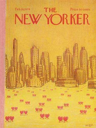 The New Yorker Cover - February 18, 1974-Robert Weber-Premium Giclee Print