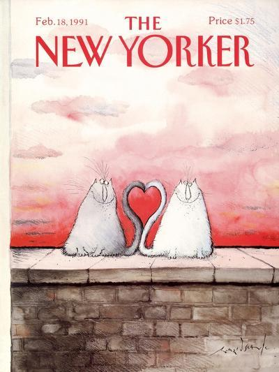 The New Yorker Cover - February 18, 1991-Ronald Searle-Premium Giclee Print