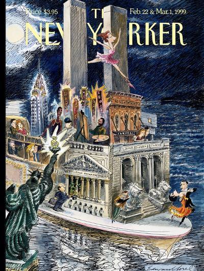 The New Yorker Cover - February 22, 1999-Edward Sorel-Premium Giclee Print
