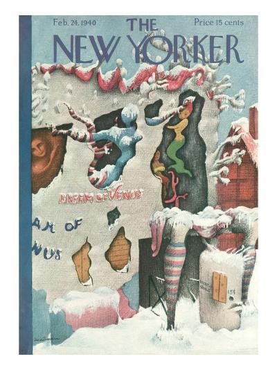 The New Yorker Cover - February 24, 1940-Christina Malman-Premium Giclee Print