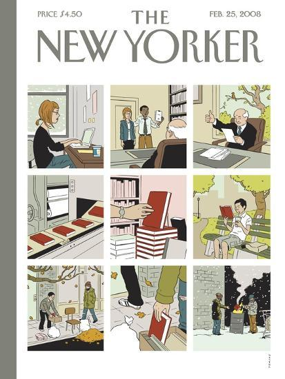 The New Yorker Cover - February 25, 2008-Adrian Tomine-Premium Giclee Print