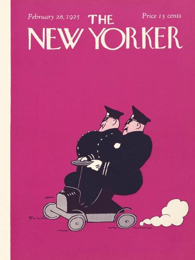 The New Yorker Cover - February 28, 1925-Carl Fornaro-Premium Giclee Print