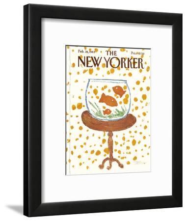 The New Yorker Cover - February 28, 1983-Robert Tallon-Framed Premium Giclee Print