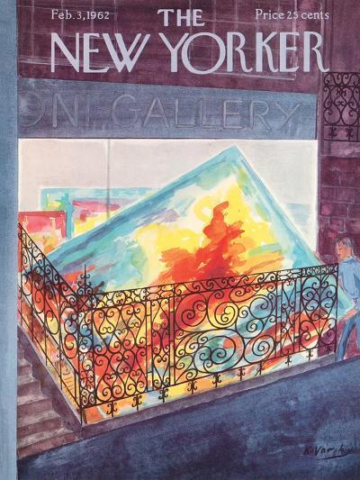 The New Yorker Cover - February 3, 1962-Anatol Kovarsky-Premium Giclee Print