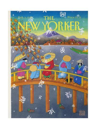 The New Yorker Cover - February 3, 1992-Bob Knox-Premium Giclee Print