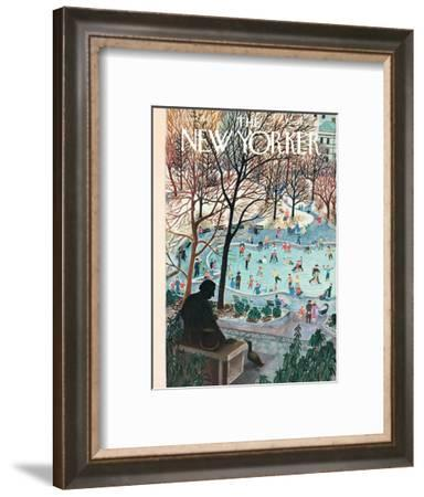 The New Yorker Cover - February 4, 1961-Ilonka Karasz-Framed Premium Giclee Print