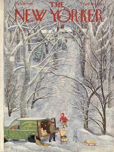 The New Yorker Cover - February 5, 1949-Ilonka Karasz-Premium Giclee Print