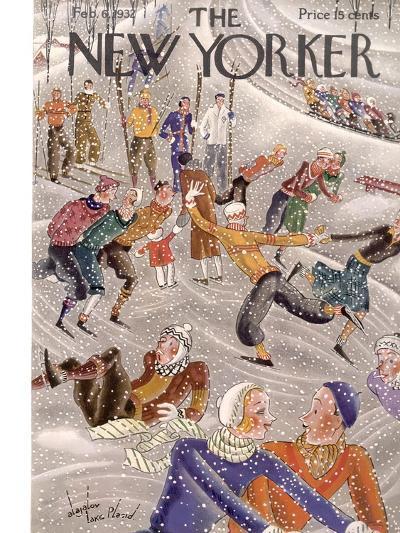 The New Yorker Cover - February 6, 1932-Constantin Alajalov-Premium Giclee Print