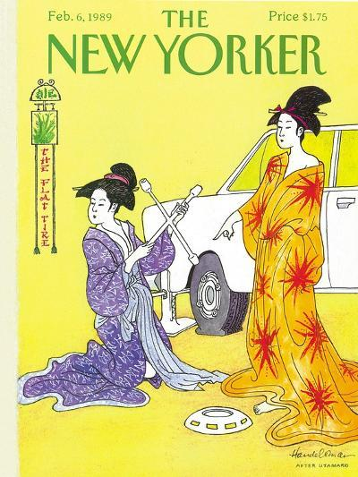 The New Yorker Cover - February 6, 1989-J.B. Handelsman-Premium Giclee Print