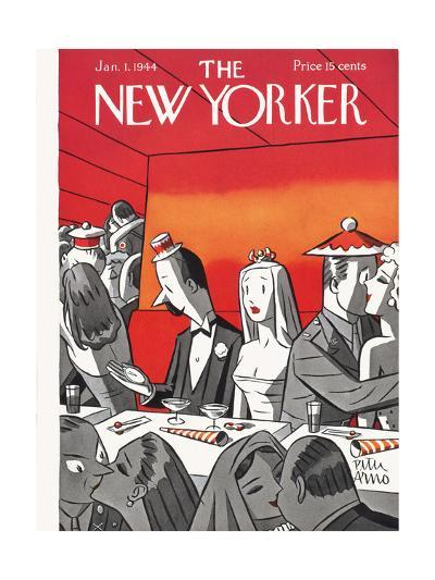 The New Yorker Cover - January 1, 1944-Peter Arno-Premium Giclee Print