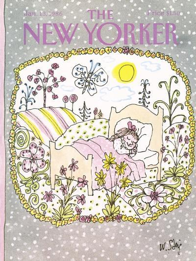 The New Yorker Cover - January 13, 1986-William Steig-Premium Giclee Print
