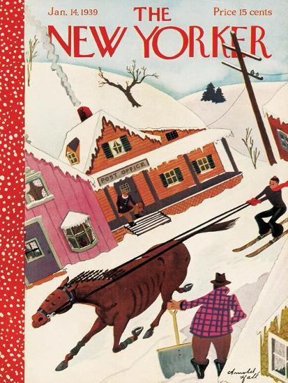 The New Yorker Cover - January 14, 1939-Arnold Hall-Premium Giclee Print
