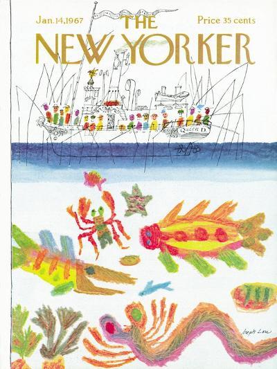 The New Yorker Cover - January 14, 1967-Joseph Low-Premium Giclee Print