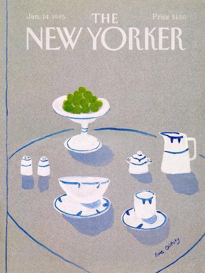 The New Yorker Cover - January 14, 1985-Eve Olitsky-Premium Giclee Print