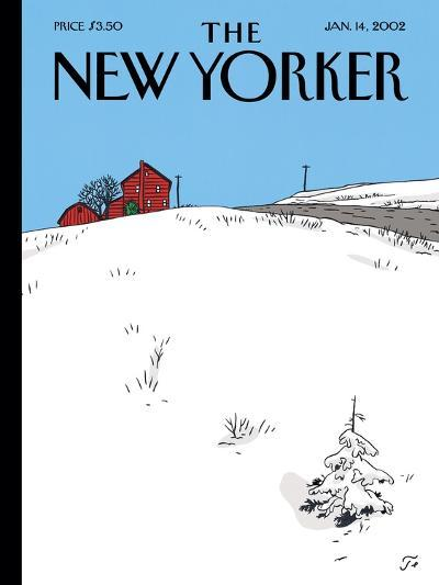 The New Yorker Cover - January 14, 2002-Jean Claude Floc'h-Premium Giclee Print