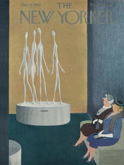 The New Yorker Cover - January 15, 1955-Charles E. Martin-Premium Giclee Print