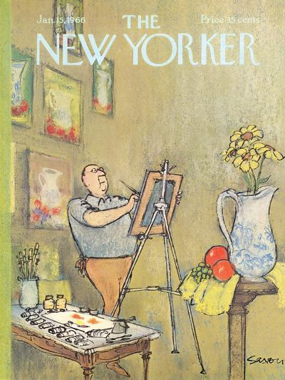The New Yorker Cover - January 15, 1966-Charles Saxon-Premium Giclee Print