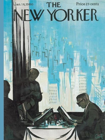 The New Yorker Cover - January 16, 1960-Arthur Getz-Premium Giclee Print