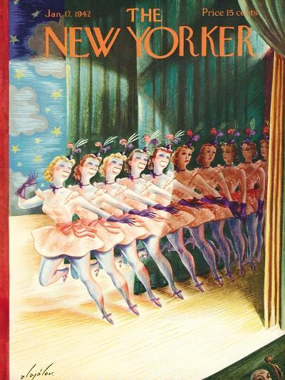 The New Yorker Cover - January 17, 1942-Constantin Alajalov-Premium Giclee Print