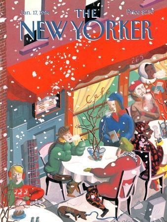 The New Yorker Cover - January 17, 1994-Kathy Osborn-Premium Giclee Print